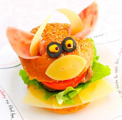 Receta de hamburguesa para niños disfrazada de vaca