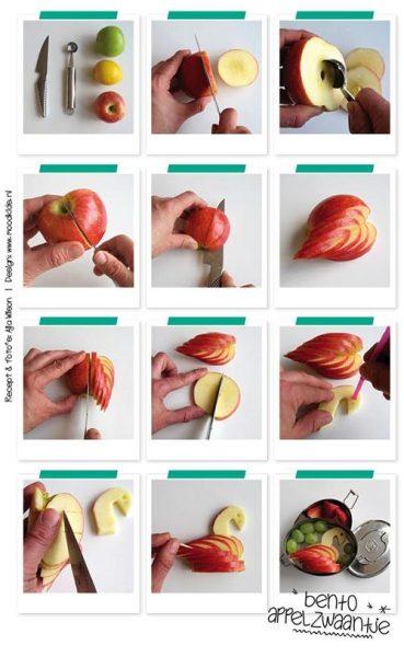 postre manzana niños