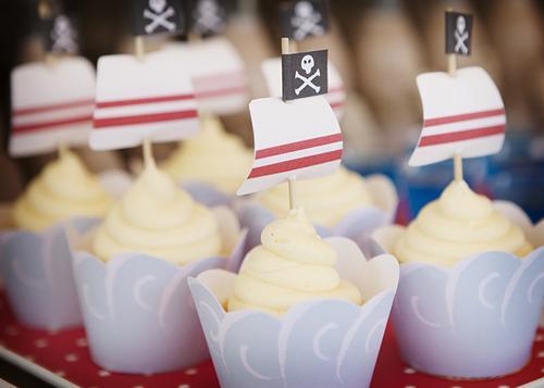 Ideas de cupcakes para cumpleaños de piratas