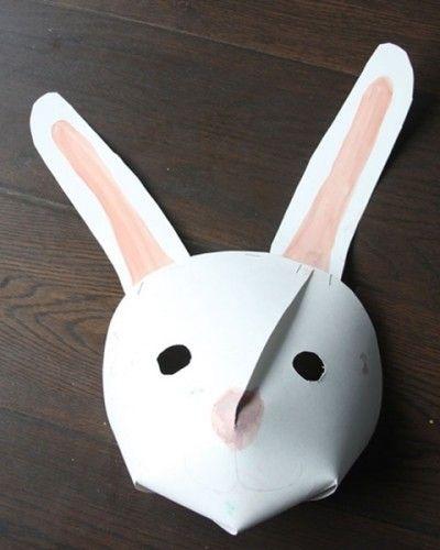 máscara infantil de conejo