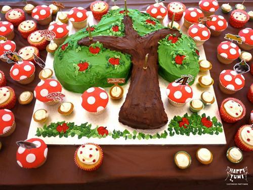 Fiesta infantil en el bosque de los elfos