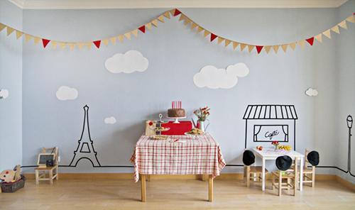 Fiesta infantil con aires de París