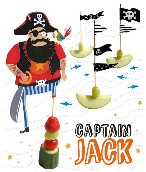 Imprimibles para pinchitos en una fiesta pirata