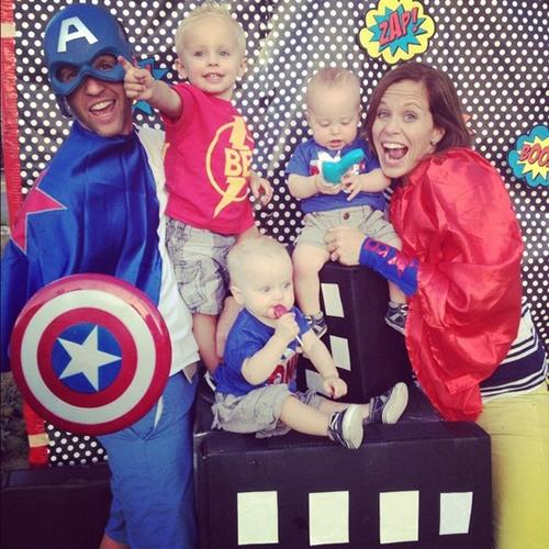 Fiesta infantil de súper héroes: el Capitán América