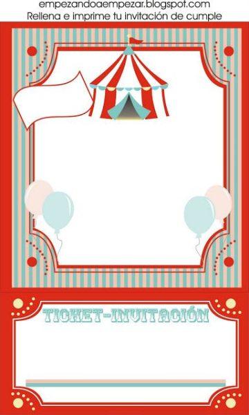 Invitaciones Para Fiestas Circo Fiestas Y Cumples