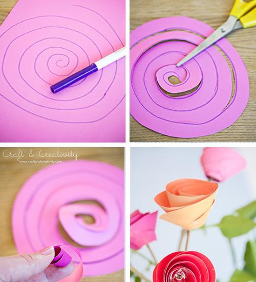 manualidades-con-niños-rosas-de-papel2