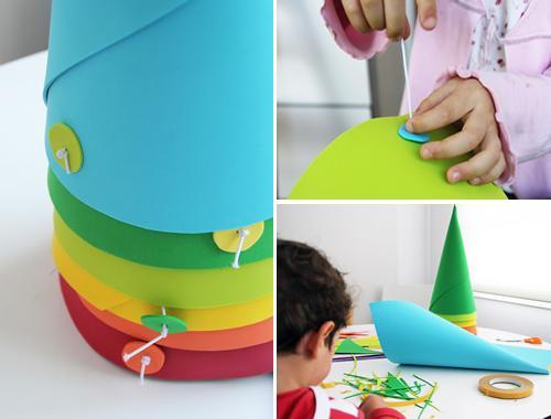 manualidades-con-niños-sombreros-fiesta-eva2