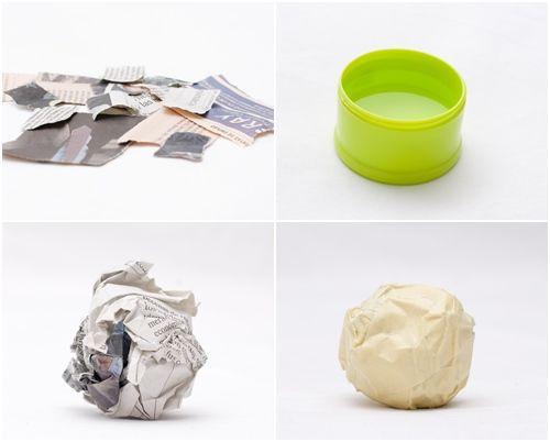 manualidades con niños tutorial de peces de papel mache 1