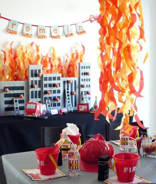 Fiesta de bomberos para niños ¡con llamas y todo! 3