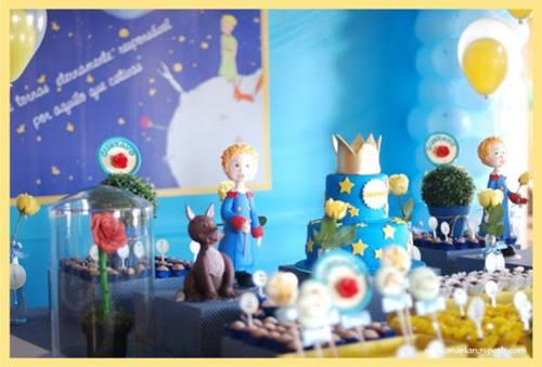 Decoración de fiesta temática de El Principito