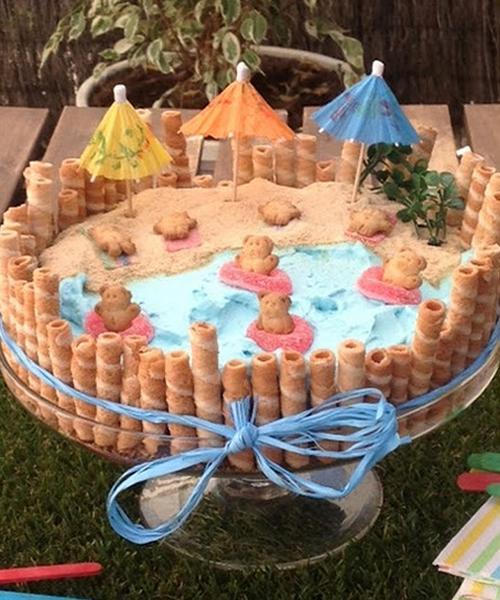 Tarta de niños para celebrar la llegada del verano
