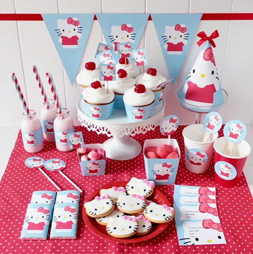 Kit de decoración para una Fiesta Hello Kitty
