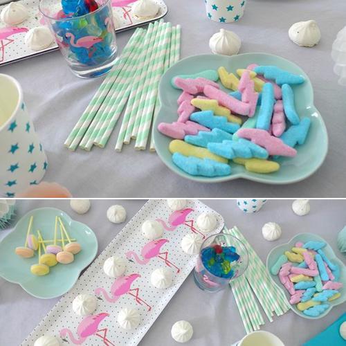 fiesta-infantil-tonos -pastel-con-flamencos2