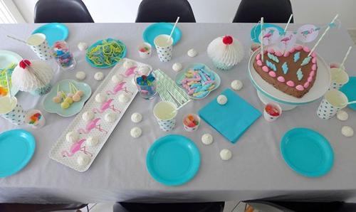 fiesta-infantil-tonos -pastel-con-flamencos3