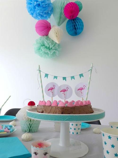 fiesta-infantil-tonos -pastel-con-flamencos5