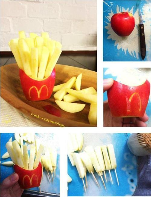 Patatas fritas estilo McDonals de manzana
