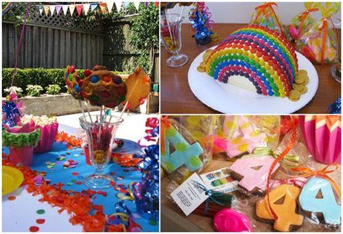 Fiesta infantil arcoíris magia, color y diversión 1