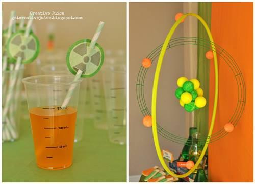 Fiesta laboratorio de química científicos locos experimentan con zumos y pastillas de gomascientist birthday party ideas 2
