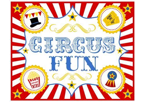 Invitaciones de circo vintage para imprimir gratis circussign-3