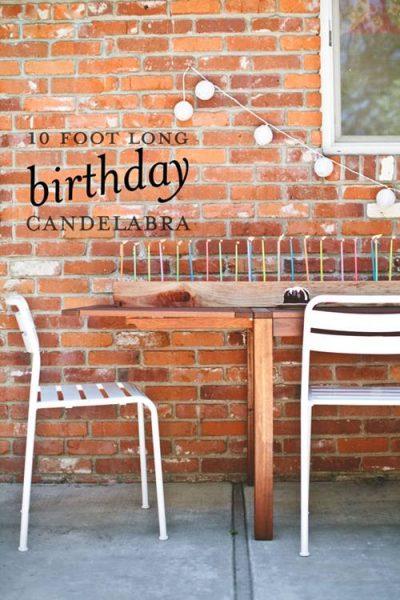 Idea para velas en fiestas de cumpleaños