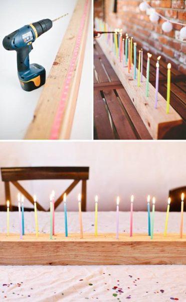 Idea para velas en fiestas de cumpleaños 3