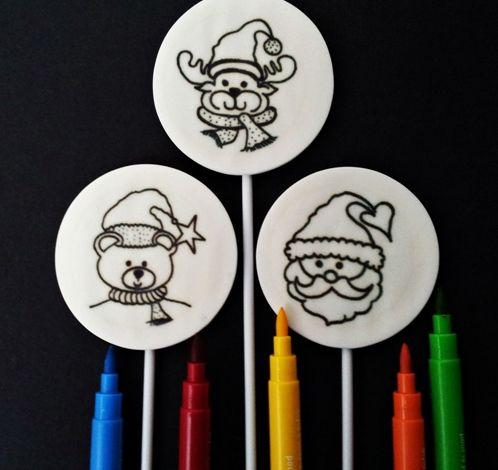 Nuevas golosinas para fiestas con dulces piruletas para pintar