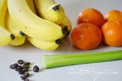 divertida receta con fruta para  fiestas de Halloween 2