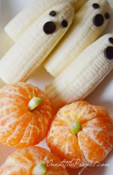 divertida receta con fruta para  fiestas de Halloween 4