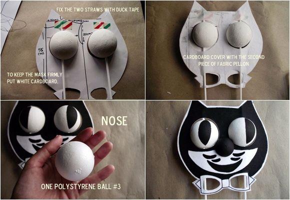 genial idea de disfraz casero de gato para halloween 3