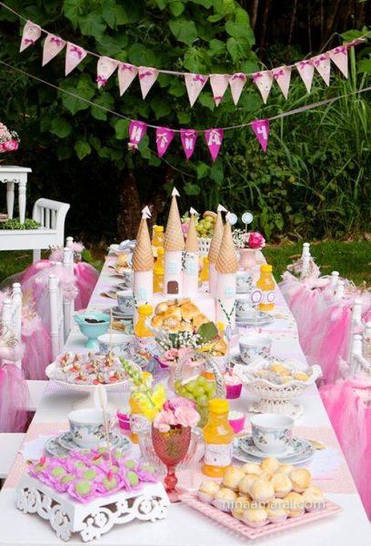 Una tarta espectacular para fiestas de princesas