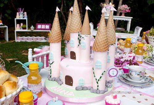 una tarta espectacular para fiestas de princesas 2