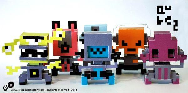 Descargables muñecos de papel para imprimir y doblar 3