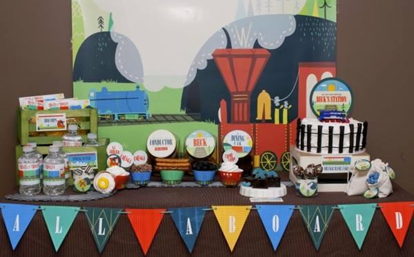 """Fiesta temática tren vintage: """"¡Viajeros al tren… Pi-piiii!"""""""