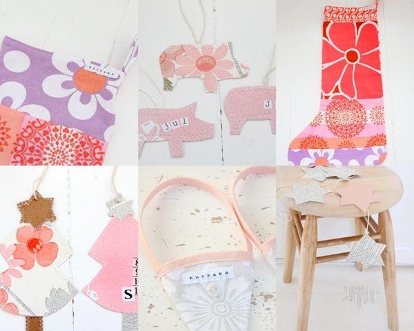 Manualidades con niños modernos árboles de Navidad en tela 3
