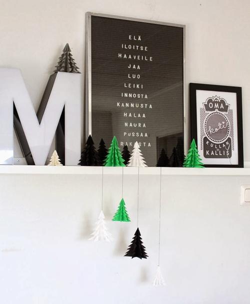 decoracion-navideña-arboles-orgami2