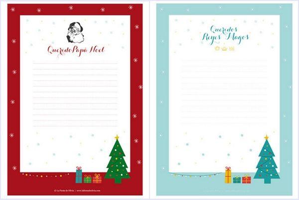 Cartas a los Reyes Magos y Santa Claus para descargar gratis 2