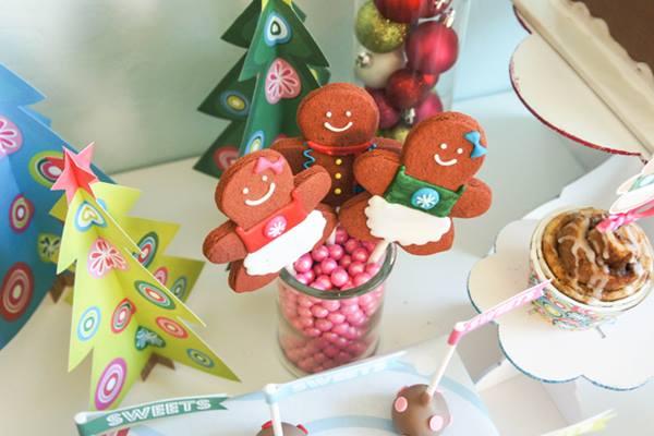 Decoración de fiesta infantil con casitas de jengibre 5