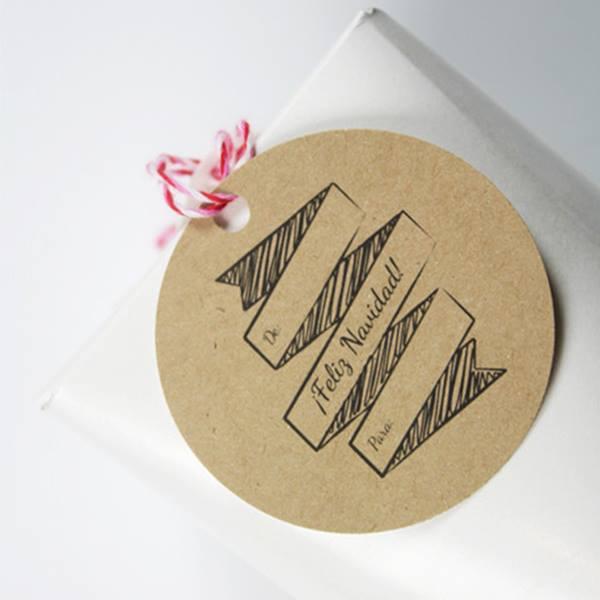 Etiquetas imprimibles gratis para regalos de Navidad