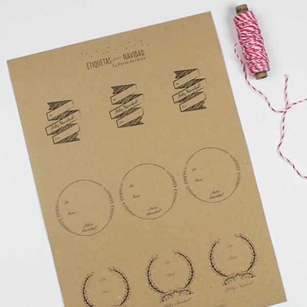 Etiquetas imprimibles gratis para regalos de navidad for In regalo gratis