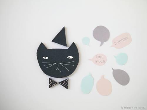 Gatos de decoración DIY para hacer manualidades con niños 2