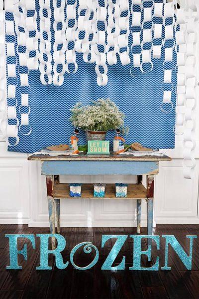 Ideas para decorar una fiesta temática Frozen, el reino del hielo 4