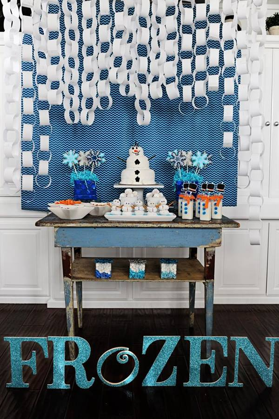 Ideas para decorar una fiesta temática Frozen, el reino del hielo 5