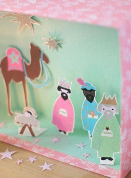 Manualidades para la Navidad con imágenes de los Reyes Magos 2