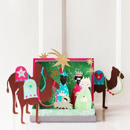 Manualidades para la Navidad con imágenes de los Reyes Magos 4