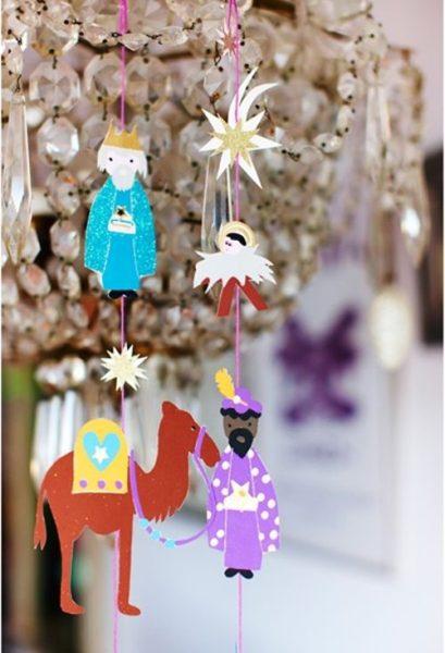 Manualidades para la Navidad con imágenes de los Reyes Magos 5