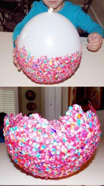 bandeja para snacks de fiesta con confetti 2
