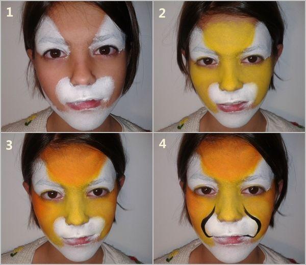 Cómo pintar caras con maquillaje artístico para niños  2