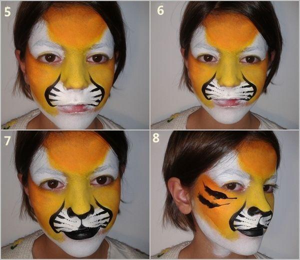 Cómo pintar caras con maquillaje artístico para niños 3