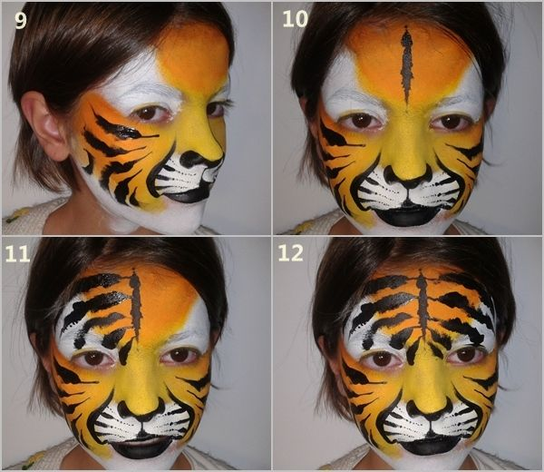 Cómo pintar caras con maquillaje artístico para niños 4