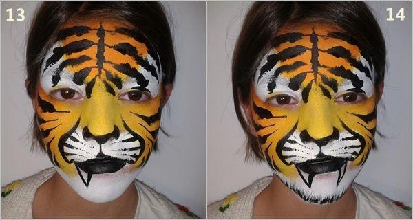 Cómo pintar caras con maquillaje artístico para niños 5